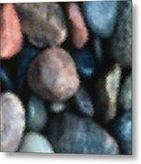 Abstract Of River Rocks 1 Metal Print