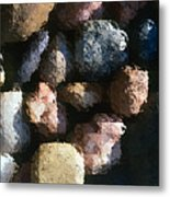 Abstract Of River Rocks 2 Metal Print