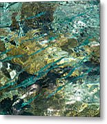 Abstract Of The Underwater World. Production By Nature Metal Print