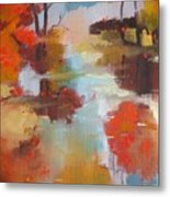 Abstract Of Wild Auge River  Metal Print