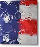 Abstract Oil And Water Usa 2 Metal Print