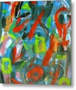 Abstract On Paper No. 20 Metal Print