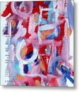 Abstract On Paper No. 30 Metal Print