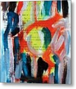 Abstract On Paper No. 34 Metal Print