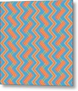 Abstract Orange, Red And Cyan Pattern For Home Decoration Metal Print