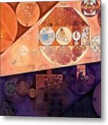 Abstract Painting - Blackberry Metal Print