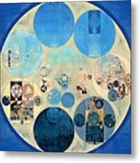 Abstract Painting - Curious Blue Metal Print