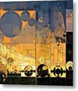 Abstract Painting - Davy Grey Metal Print