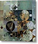 Abstract Painting - Dove Grey Metal Print