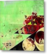 Abstract Painting - Feijoa Metal Print