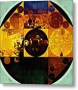 Abstract Painting - Gamboge Metal Print