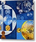 Abstract Painting - Havelock Blue Metal Print