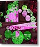 Abstract Painting - Pale Plum Metal Print