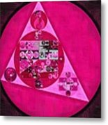 Abstract Painting - Persian Pink Metal Print