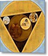 Abstract Painting - Satin Sheen Gold Metal Print