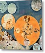 Abstract Painting - Shuttle Grey Metal Print