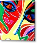 Abstract Painting - Woman Of Colors Metal Print