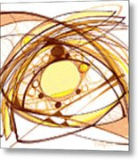 Abstract Pen Drawing Eleven Metal Print