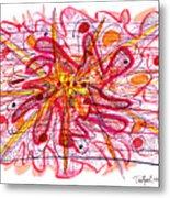 Abstract Pen Drawing Fifteen Metal Print