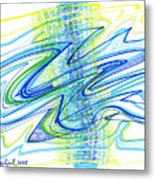 Abstract Pen Drawing Forty Metal Print