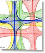 Abstract Pen Drawing Seventeen Metal Print