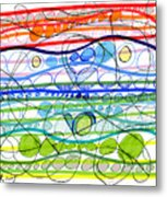 Abstract Pen Drawing Sixteen Metal Print