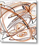 Abstract Pen Drawing Ten Metal Print