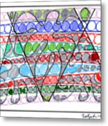 Abstract Pen Drawing Thirteen Metal Print