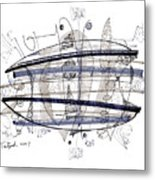 Abstract Pen Drawing Thirty-four Metal Print