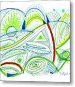 Abstract Pen Drawing Thirty-two Metal Print