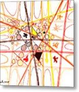 Abstract Pen Drawing Three Metal Print