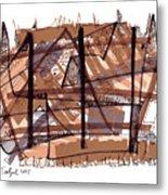 Abstract Pen Drawing Twelve Metal Print