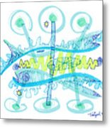 Abstract Pen Drawing Twenty-five Metal Print