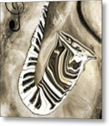 Piano Keys In A Saxophone 3 - Music In Motion Metal Print