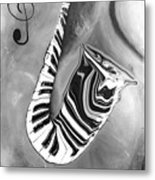 Piano Keys In A Saxophone 4 - Music In Motion Metal Print