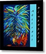 Abstract Pineapple Metal Print