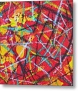 Abstract Pizza 2 Metal Print