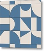 Abstract Puzzle Metal Print