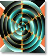 Abstract Radial Object Metal Print