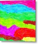 Abstract Rainbow Art By Adam Asar 3 Metal Print