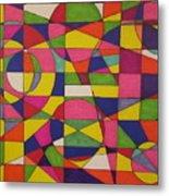 Abstract Rainbow Of Color Metal Print