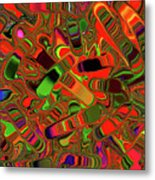 Abstract Rainbow Slider Explosion Metal Print