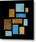 Abstract Rectangles Metal Print by Frank Tschakert