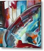 Abstract Red And Blue A Metal Print