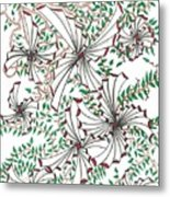 Abstract Red And Green Design  Metal Print