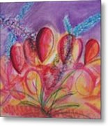 Abstract Red And Purple And Blue Metal Print