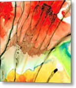 Abstract Red Art - The Promise - Sharon Cummings Metal Print