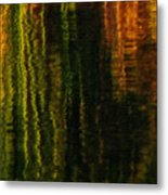 Abstract Reeds Triptych Bottom Metal Print