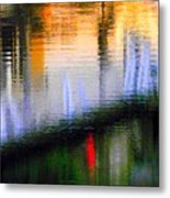 Abstract Reflection In Water 02 Metal Print
