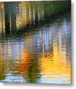 Abstract Reflection In Water 05  Metal Print
